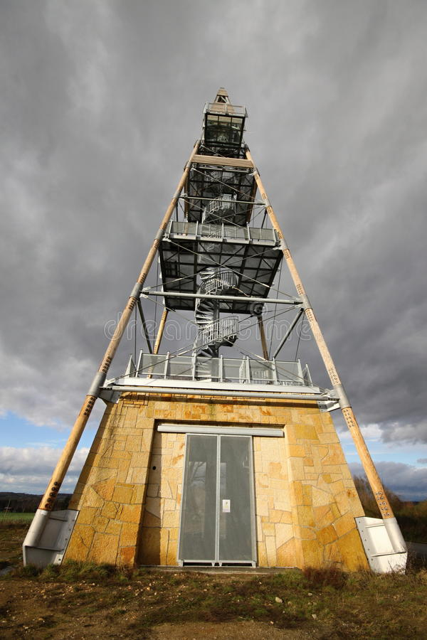 Pyramid outlook tower. Outlook tower shaped as pyramid royalty free stock photography