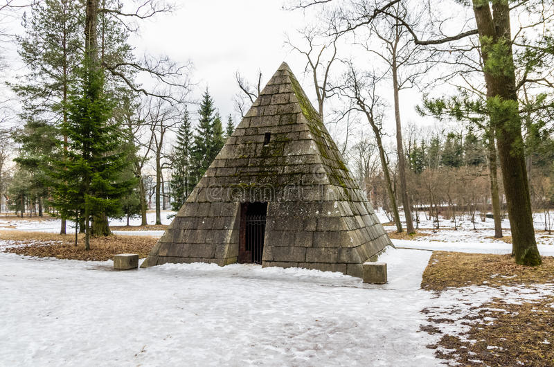 Pyramid Pavilion in Catharine Park royalty free stock images