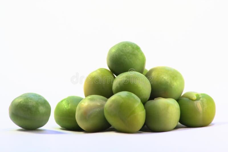 Pyramid of peas stock photo