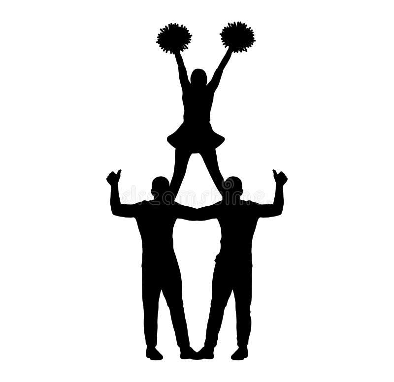 Cheerleading Stunts Clipart Color