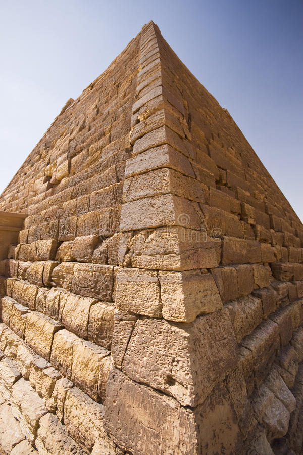 Pyramid perspective royalty free stock images