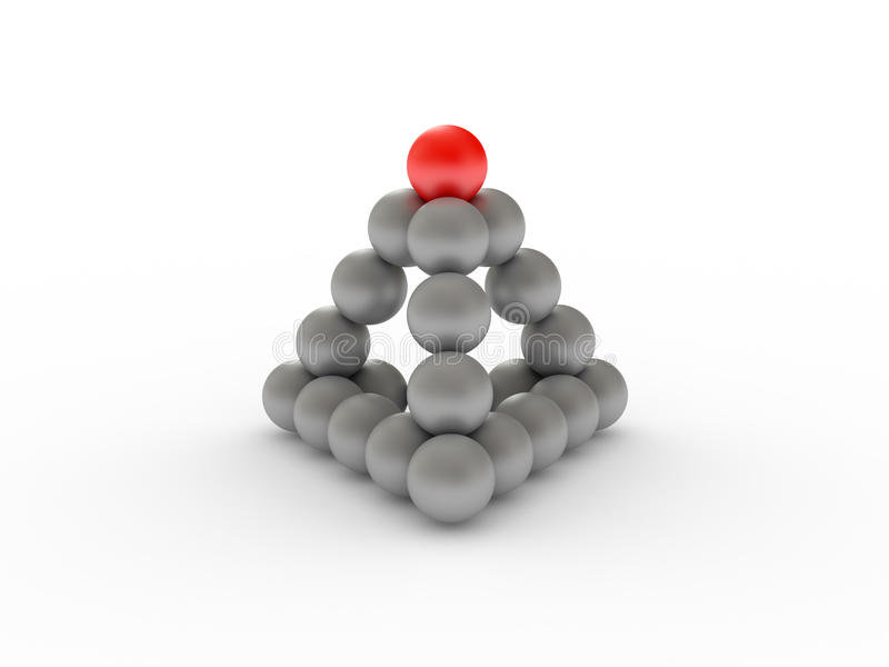 Pyramid with red ball