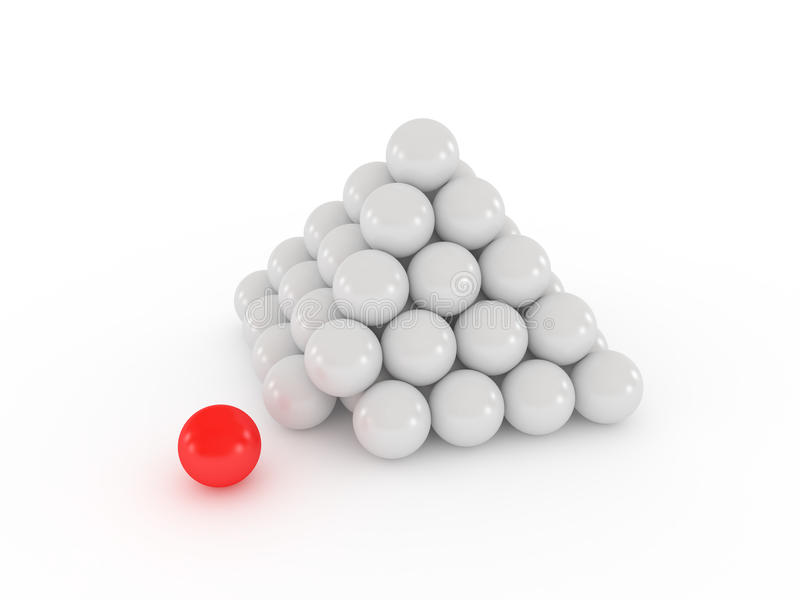 Pyramid With Red Ball Royalty Free Stock Photos