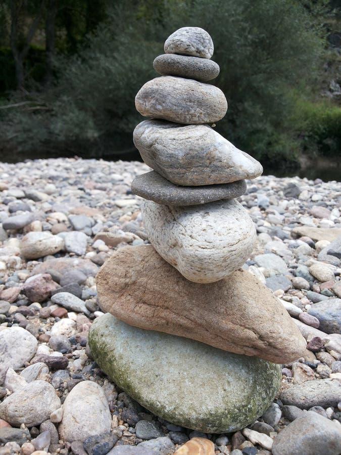 Pyramid of rocks stock photos