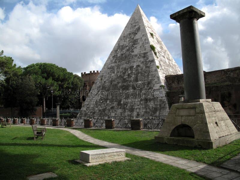 Pyramid Rome stock photos