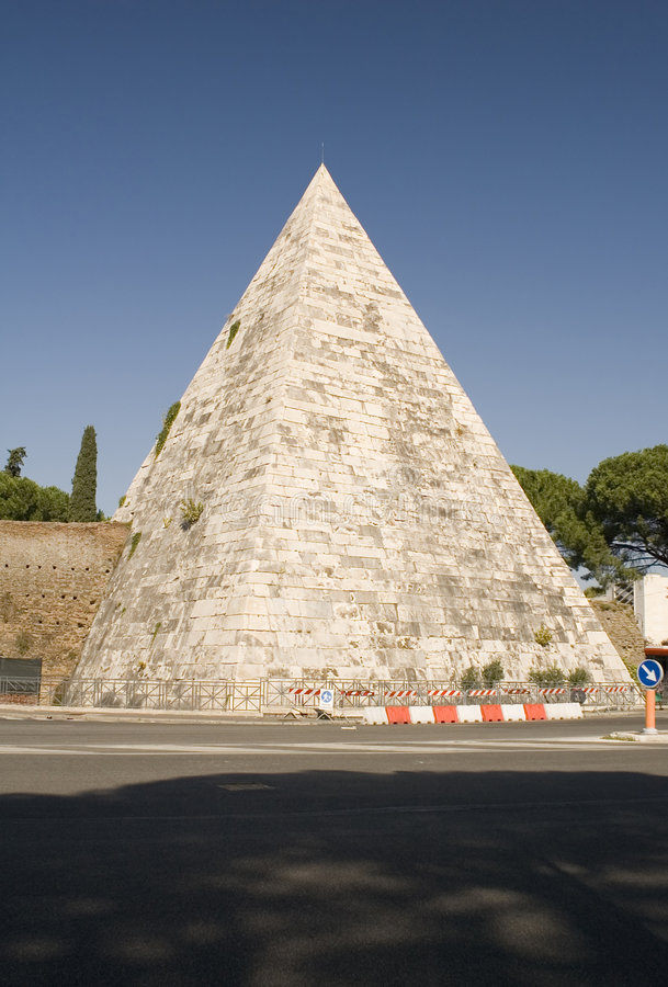 Pyramid in rome royalty free stock photography