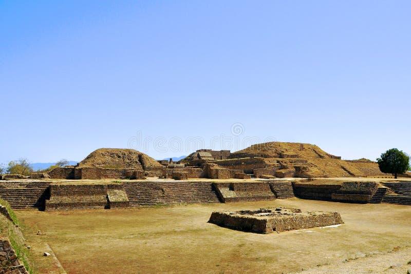 Pyramid Ruins 2, Mexico. The pyramid ruins of Monte Alban - Oaxaca, Mexico stock photos