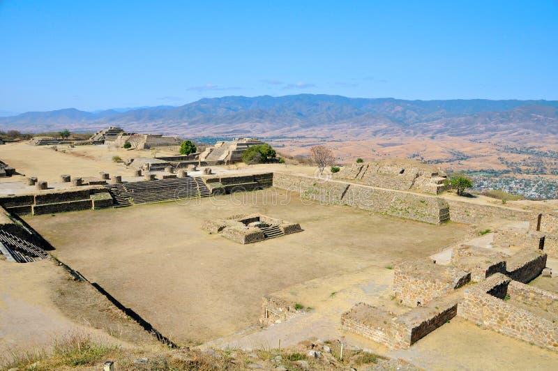 Pyramid Ruins 3, Mexico. The pyramid ruins of Monte Alban - Oaxaca, Mexico royalty free stock photo