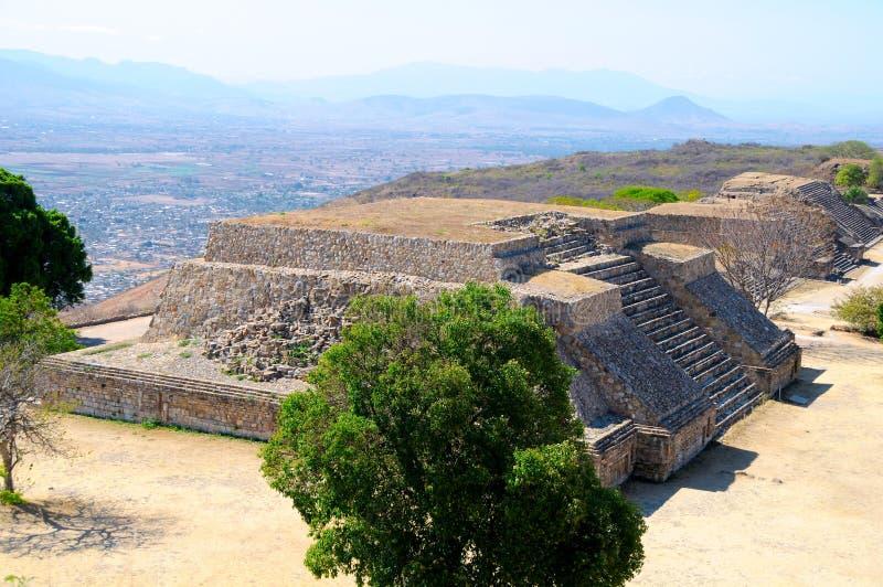 Pyramid Ruins 4, Mexico. The pyramid ruins of Monte Alban - Oaxaca, Mexico stock image