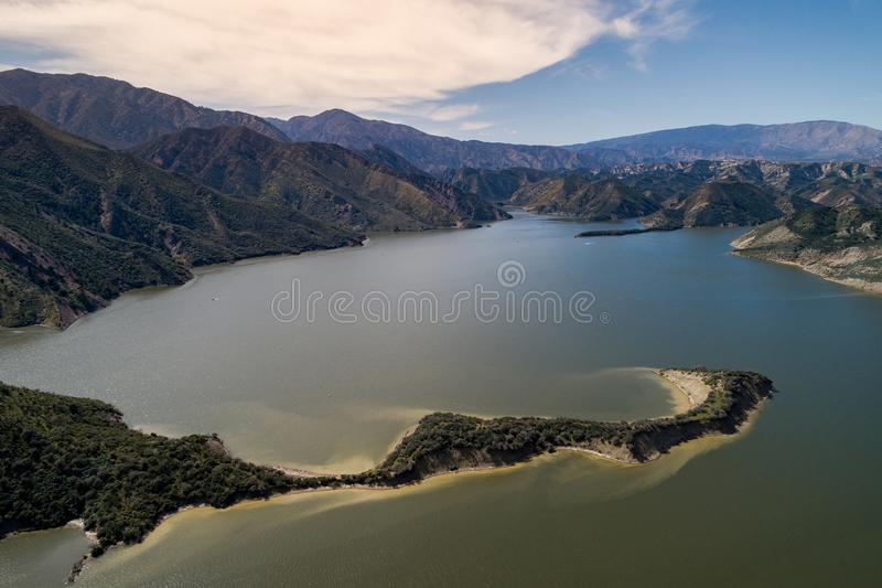 Pyramid sjö i sydliga Kalifornien fotografering för bildbyråer
