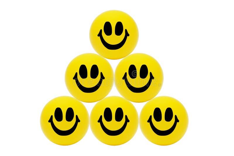 Download Pyramid Of Smiling Yellow Balls Stock Image - Image of balls, order: 20648641