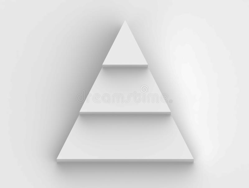 Pyramid step flowchart in white background. New Pyramid step flowchart in white background royalty free illustration