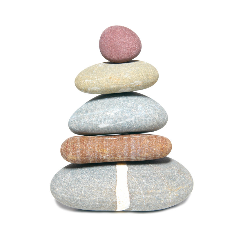 Pyramid of stones royalty free stock image