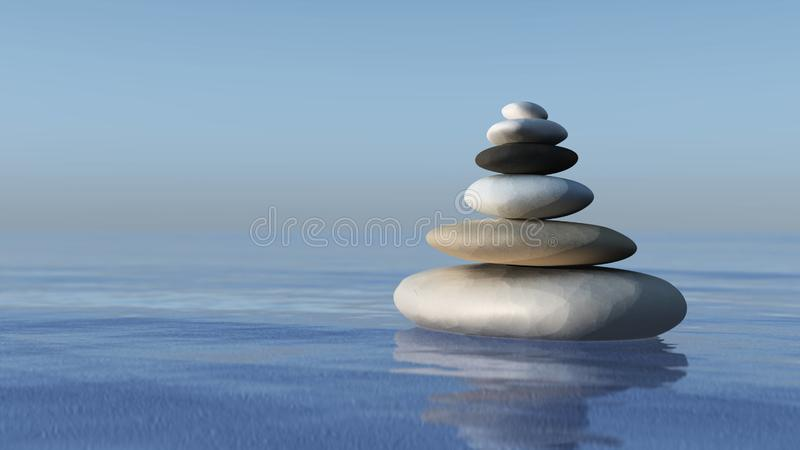 A pyramid of stones stock images