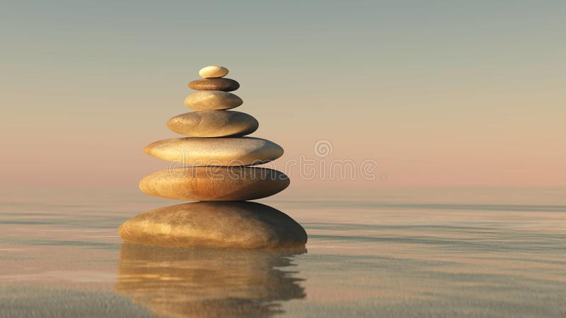 A pyramid of stones royalty free stock images