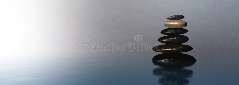 Pyramid of stones, spa background stock image