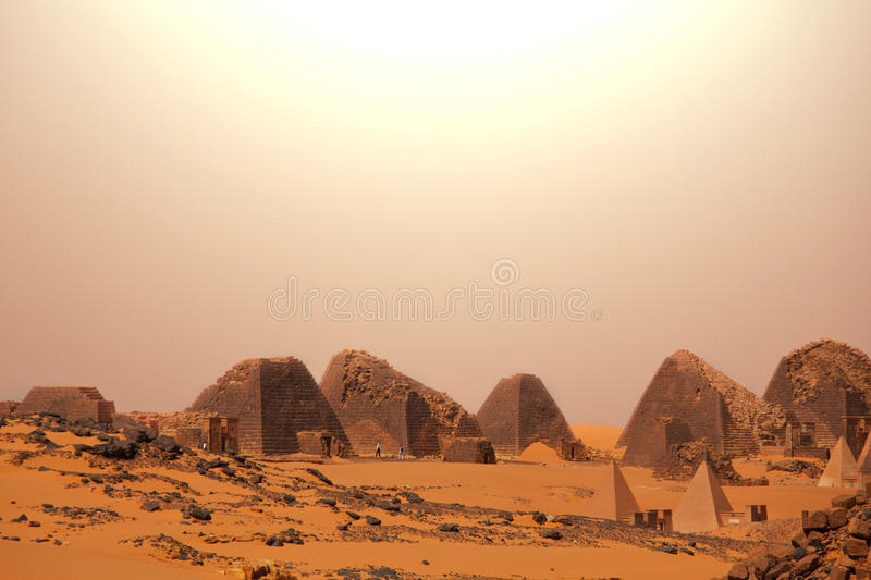 Pyramid in Sudan royalty free stock photos