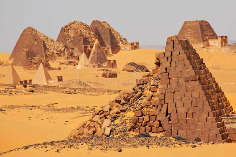 Pyramid in Sudan royalty free stock photo
