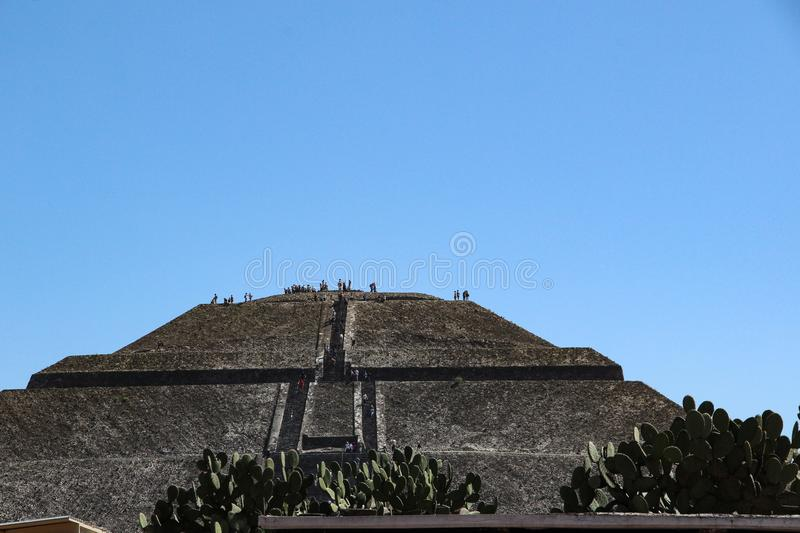 Pyramid of Sun in Teotihuacan, Mexico City royalty free stock images