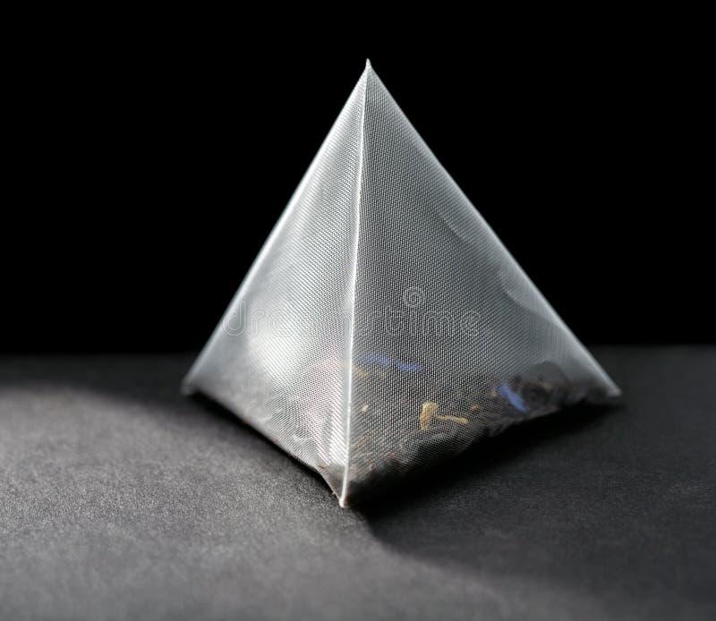 Pyramid tea bag stock images