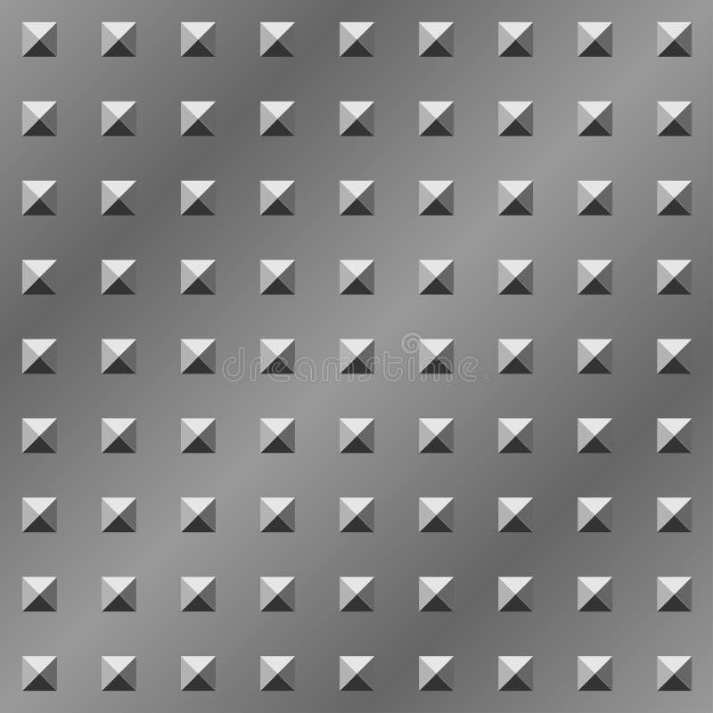 Pyramid Textured Metal Plate Royalty Free Stock Photos