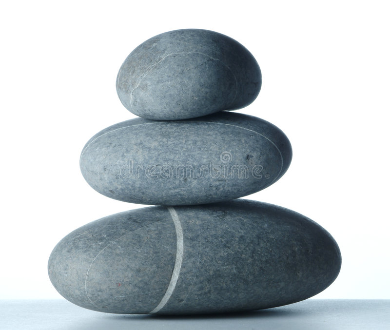 Pyramid of three stones-2 stock photo