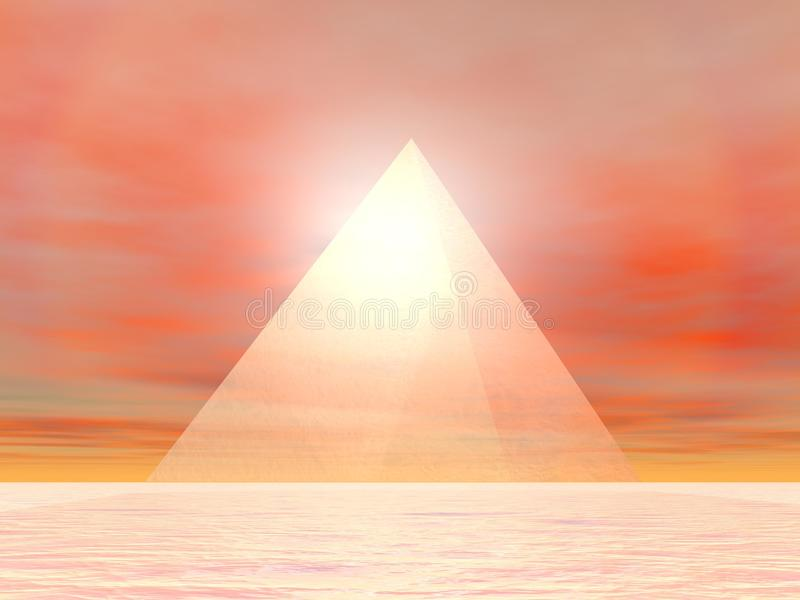 Download Pyramid to sun - 3D render stock illustration. Image of geometry - 28905618