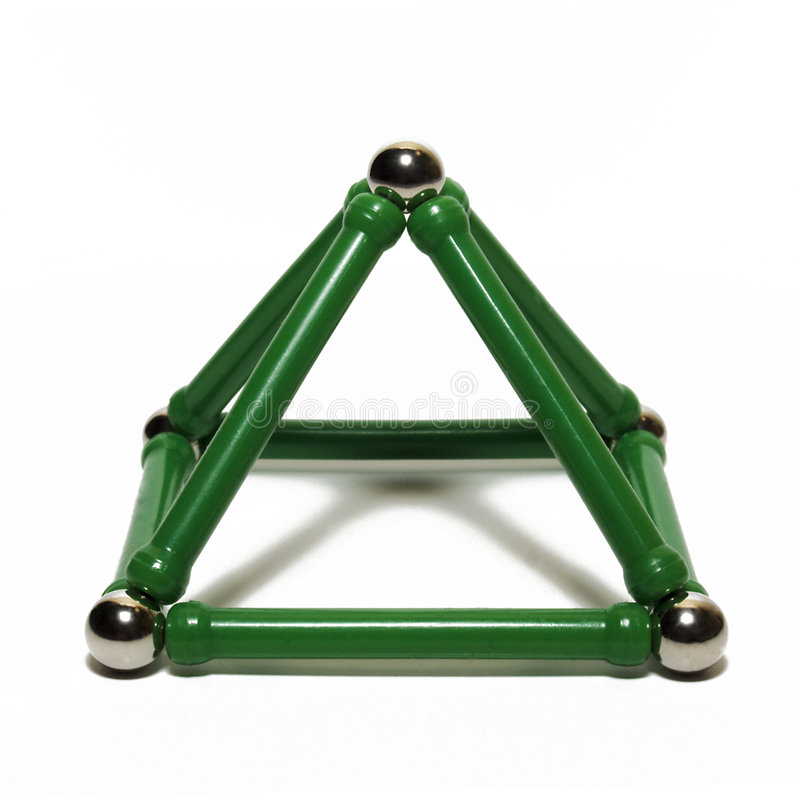 Download Pyramid Toy On A White Background Stock Image - Image of structure, pyramid: 7716219