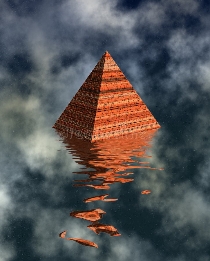 Download Pyramid Watery Landscape Stock Image - Image: 2684411