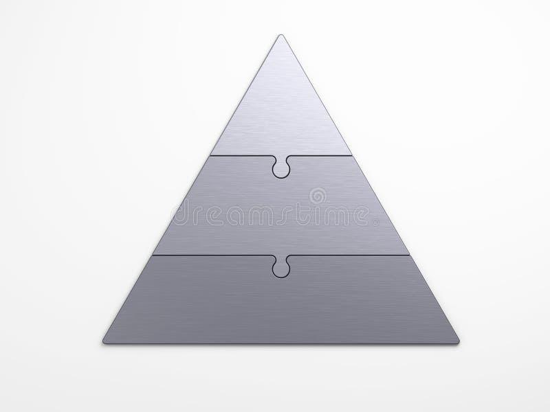 Pyramidal hierarki för metall vektor illustrationer