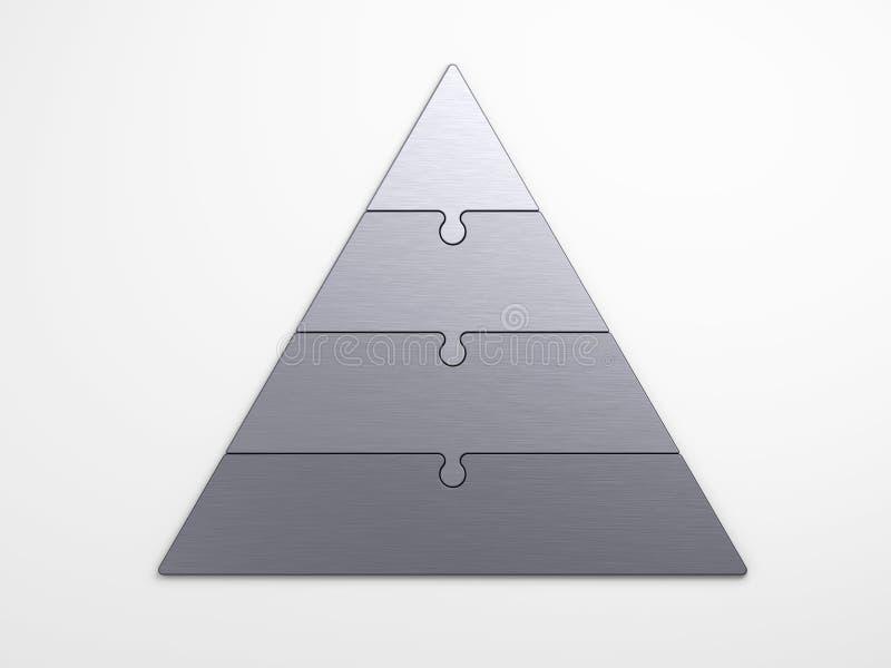 Pyramidal hierarki för metall royaltyfri illustrationer