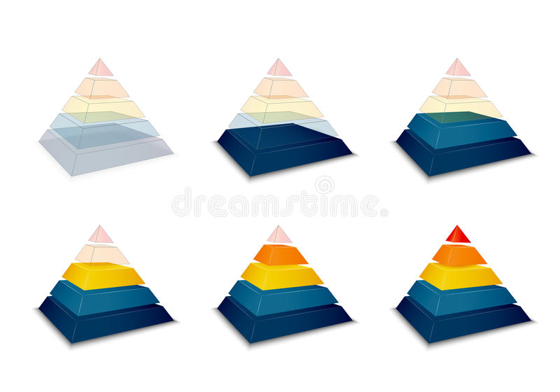 Pyramidal progress or loading bar royalty free illustration