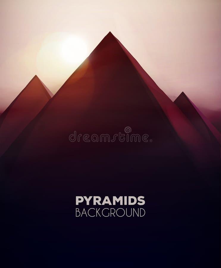 Pyramidbakgrund royaltyfri illustrationer