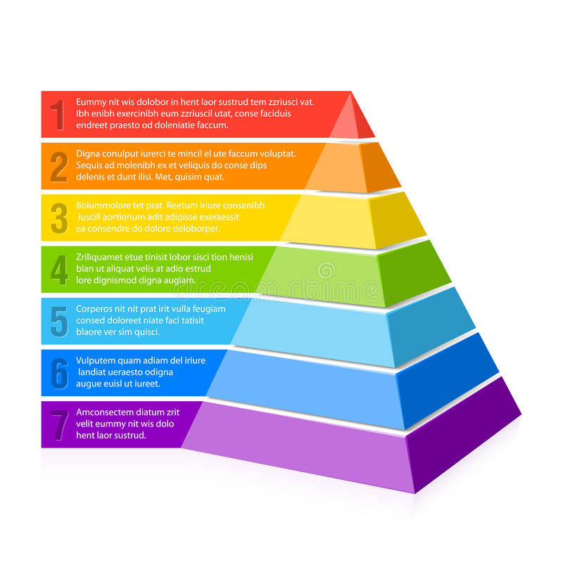 Pyramiddiagram stock illustrationer
