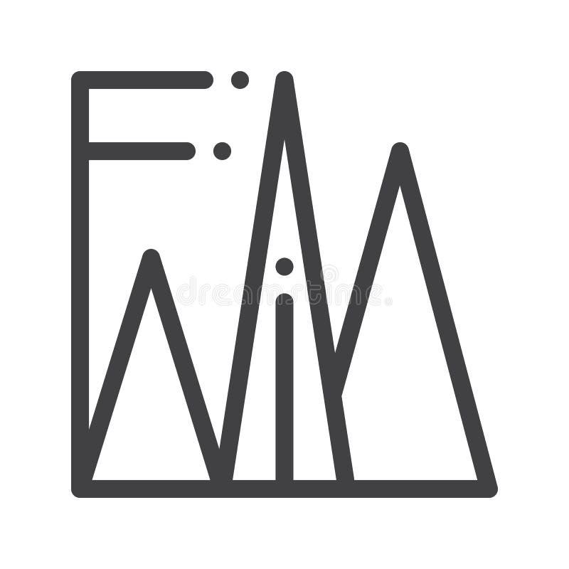 Pyramiddiagramlinje symbol vektor illustrationer