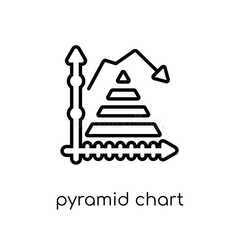 Pyramiddiagramsymbol från samling stock illustrationer