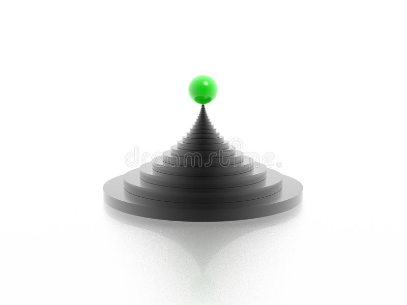 Pyramide illustration stock