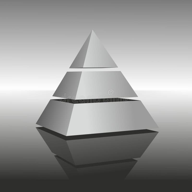 Pyramide vektor abbildung