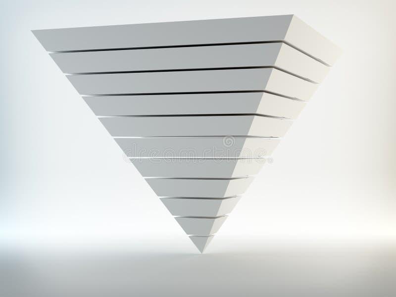 Pyramide 3d abstraite illustration stock