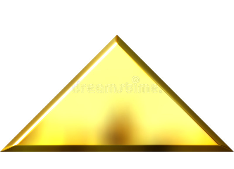 pyramide 3D d'or illustration libre de droits