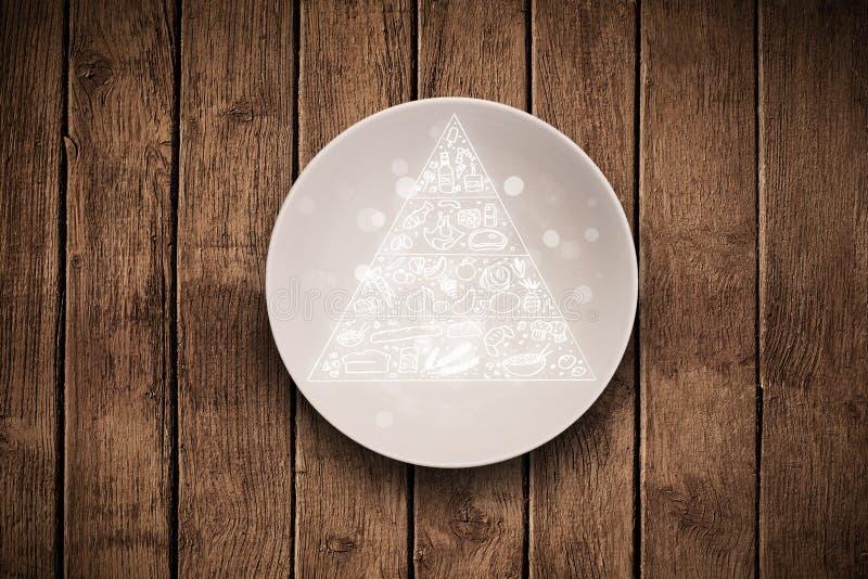 Download Pyramide Alimentaire Tirée Par La Main De Plat Coloré De Plat Illustration Stock - Illustration du fruits, illustration: 45366011