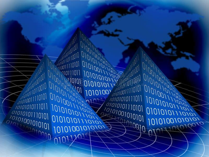 Pyramide binaire illustration libre de droits