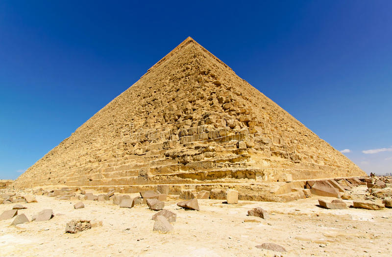Pyramide of Chefren. Pyramid of Chefren in Giza at sunny day stock photos
