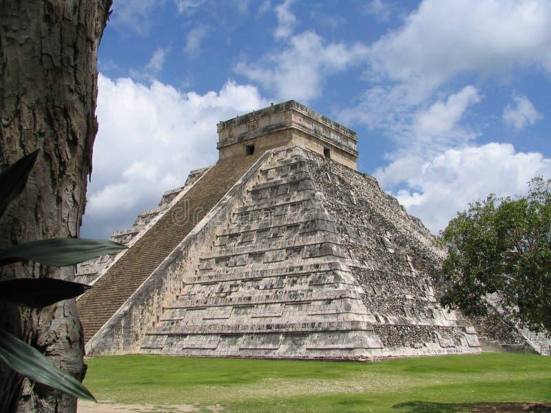 Pyramide - Chichen Itza - Yucatan/Mexique images libres de droits