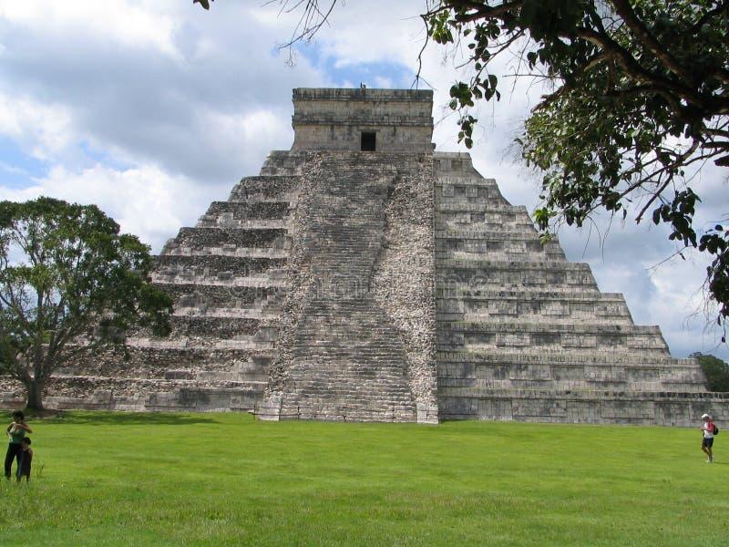 Pyramide - Chichen Itza - Yucatan/Mexique image libre de droits