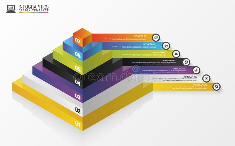pyramide concept infographic descripteur moderne de conception Vecteur illustration stock