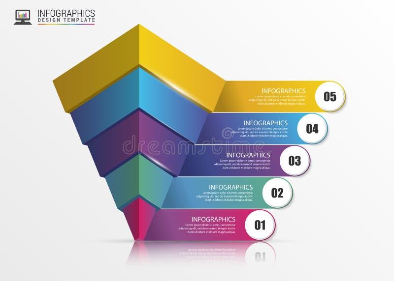 pyramide concept infographic descripteur moderne de conception Vecteur illustration libre de droits