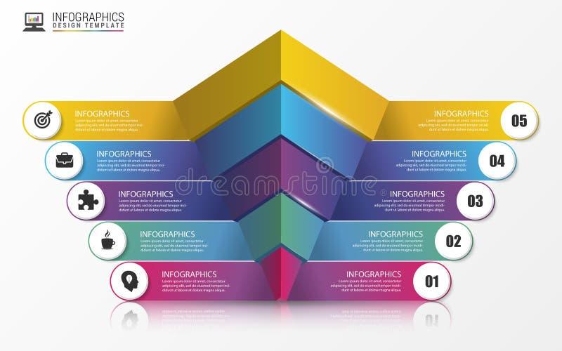 pyramide concept infographic descripteur moderne de conception Vecteur illustration de vecteur