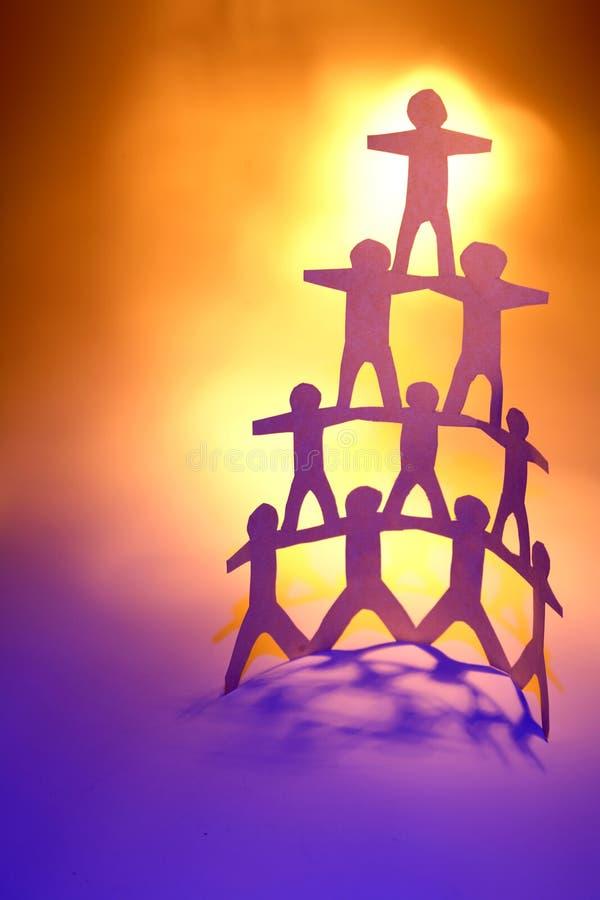 Pyramide d'équipe image libre de droits