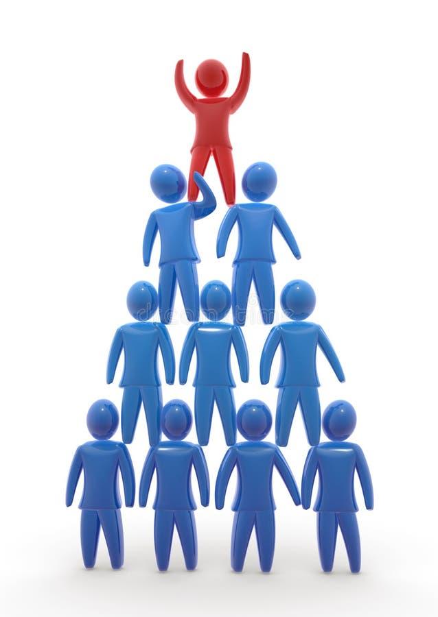 Pyramide d'équipe illustration libre de droits